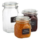 Jars wth chalk labels