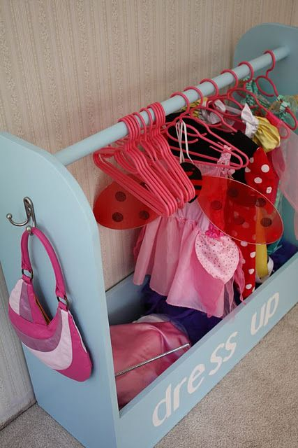 organized dress up storage organized kids an organized life. Black Bedroom Furniture Sets. Home Design Ideas