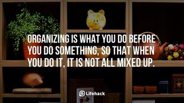 organizing is