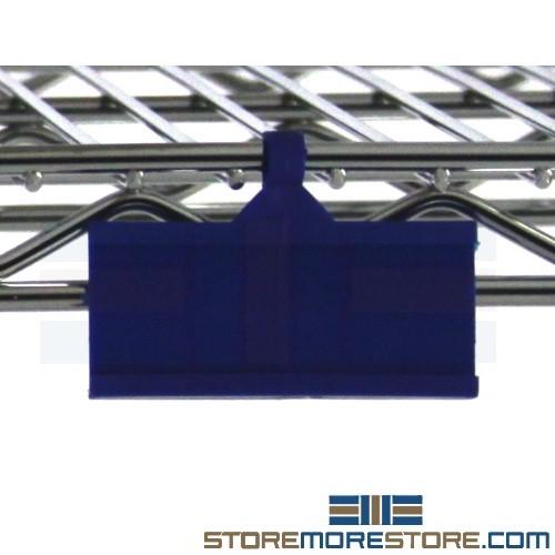 chrome shelf clip on labels