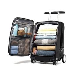 rolled organized luggage